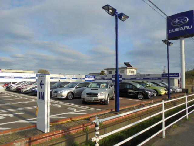お買得なスバル認定中古車を多数展示中!!常時30台〜40台の認定中古車を在庫しております。