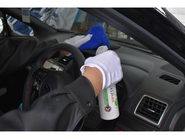 展示する前にオゾン殺菌していますがご納車直前にも殺菌作業を行っています